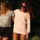 Sweatshirt Cream Heather Pink
