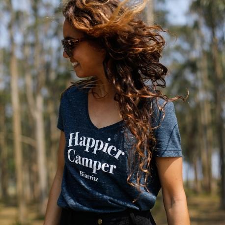 T-shirt femme Happier Camper Biarritz en coton