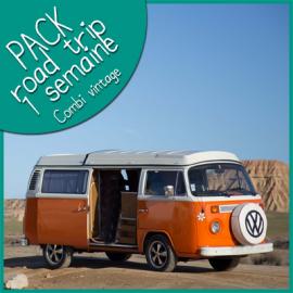 Pack 1 semaine Road Trip  en Combi vintage